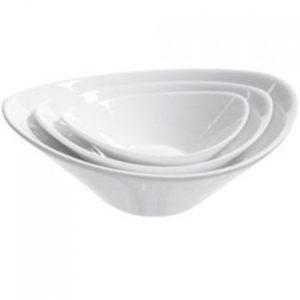 Ensaladera de porcelana con forma