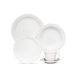 plato porcelana ala ancha varios colores